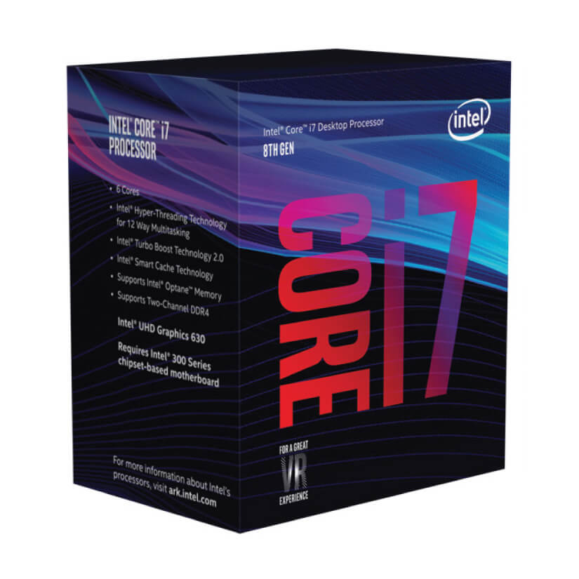 CPU Intel Core i7-8700 (3.2GHz turbo up to 4.6Ghz, 6 nhân 12 luồng, 12MB Cache, 65W) - Socket Intel LGA 1151-v2 ( TRAY)